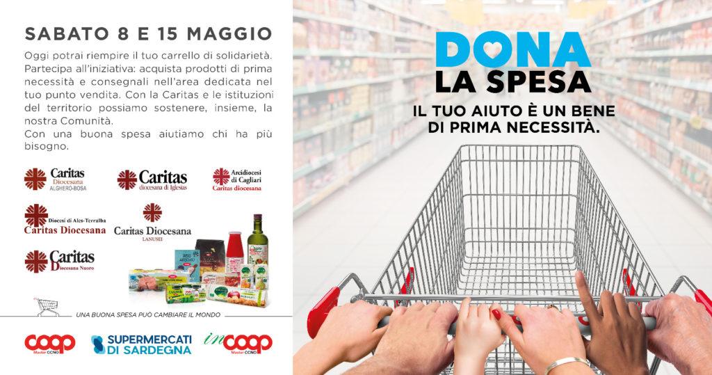 """Sabato 8 e 15 maggio 2021 l'iniziativa """"Dona la spesa"""""""