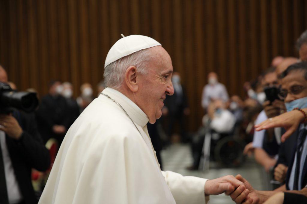 Papa Francesco festeggia i primi cinquant'anni di Caritas Italiana nell'Aula Paolo VI